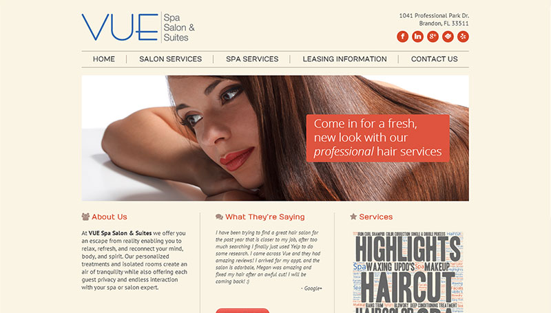 VUE Spa & Salon | Twelve31 Media