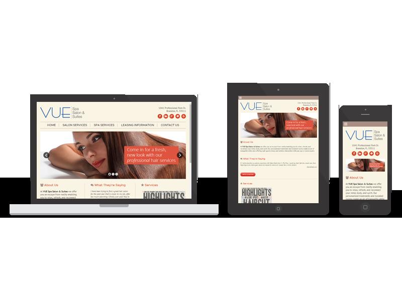 Vue Spa Salon & Suites responsive   Twelve31 Media